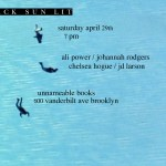 Black Sun Lit Spring 2017 Showcase at Unnameable Books