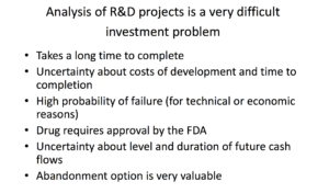Applying Real Options to R&D (from slide 57)