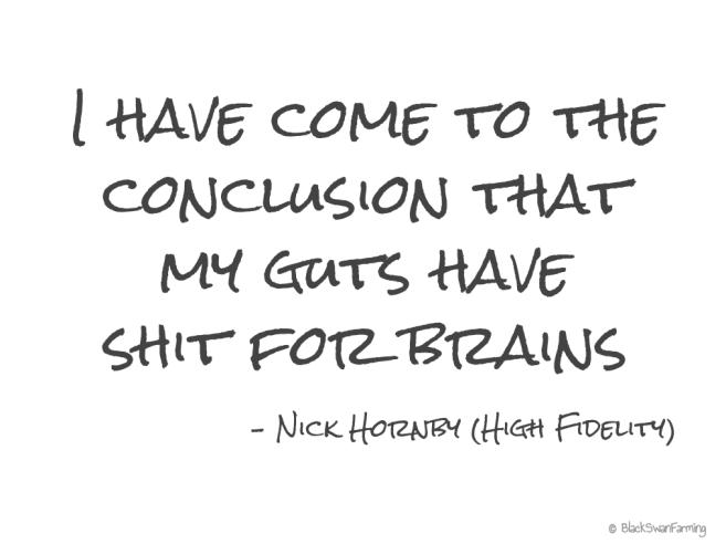 Gut-feel Shit for brains