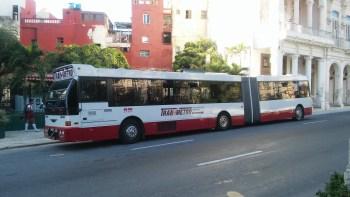 Modern Reticulated Bus in Cuba