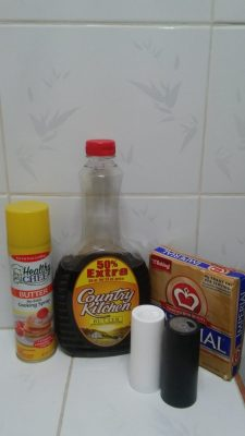 Things that are not common in Cuba. Syrup, margin, cooking spray.
