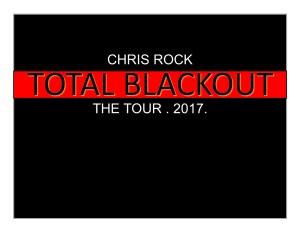 Chris Rock Total Blackout the Tour 2017
