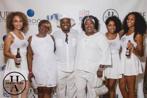 Yvette, Bill & Nikki at the Pure All White Party 2016