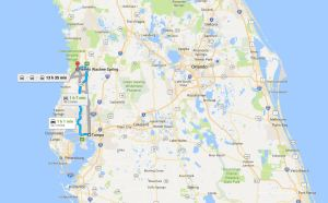 Map of Spring Hill and Weeki Wachee Springs