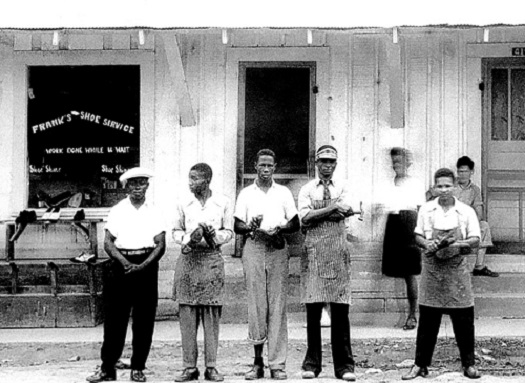 Frank Morris 4th Person from Left