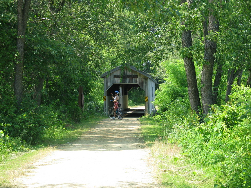 Covered Bridge On The Trail