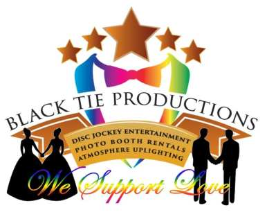 Black Tie Productions LGBT Logo - We support love