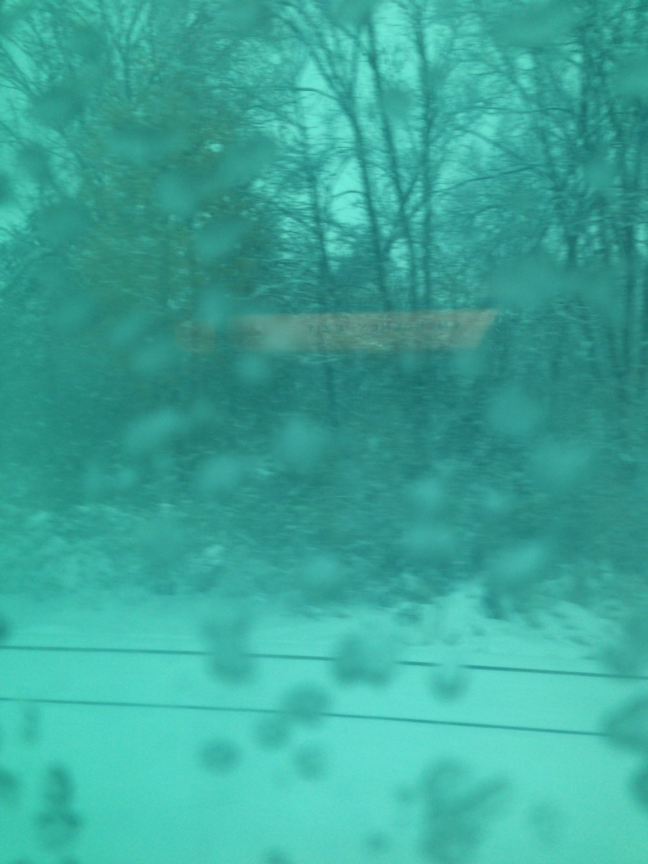 Snow from a train - 2