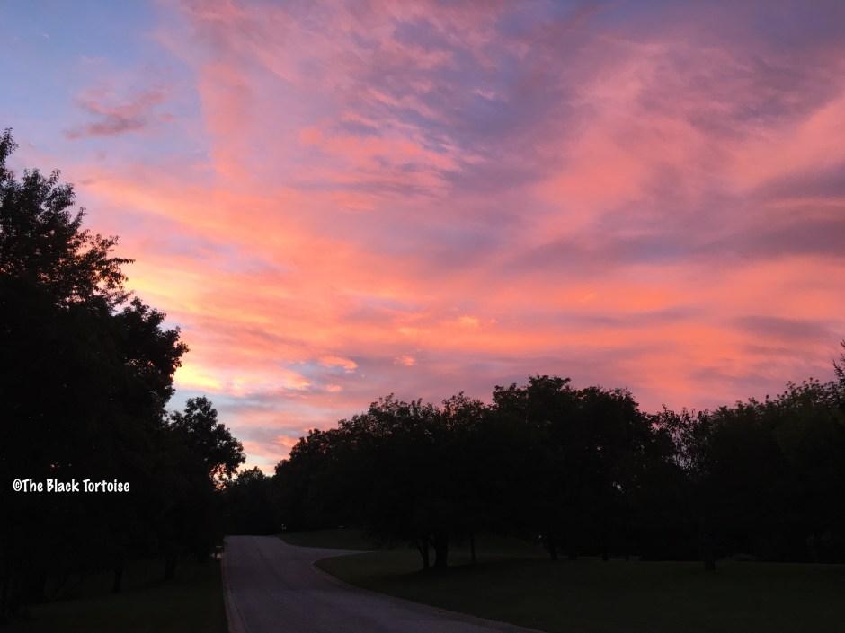red sky in morning - 1