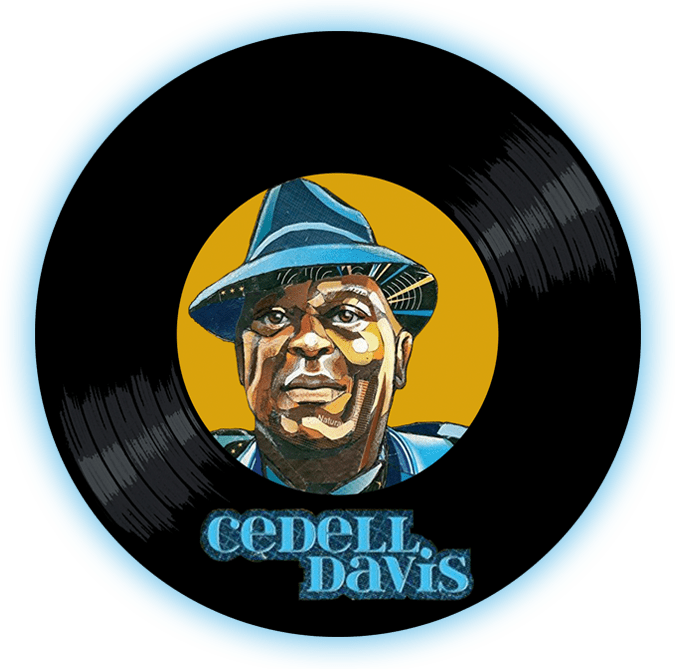 Black to the Music - Cedell Davis logo header