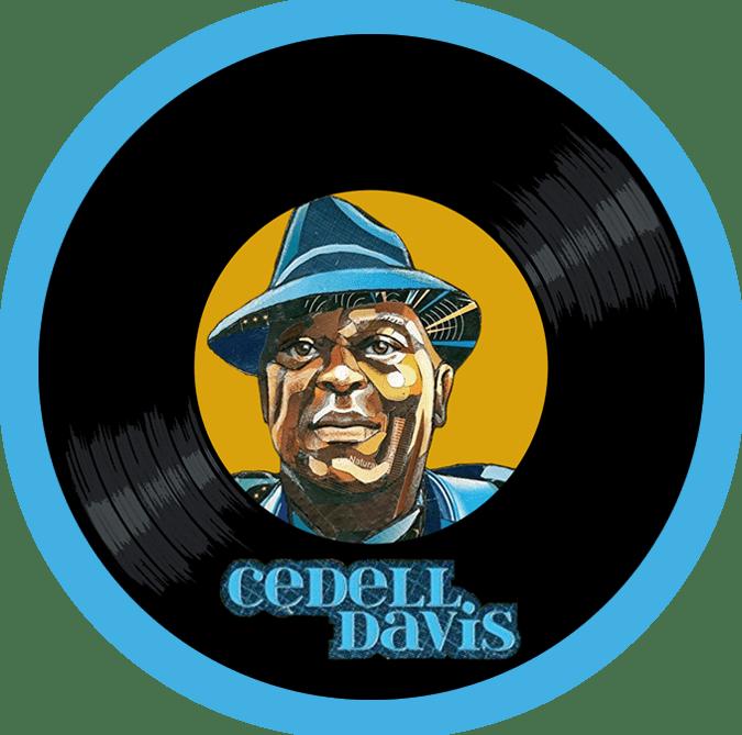 Black to the Music - Cedell Davis logo header