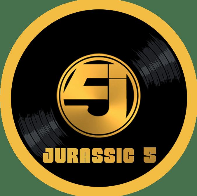 Black to the Music - Jurassic 5 - logo header