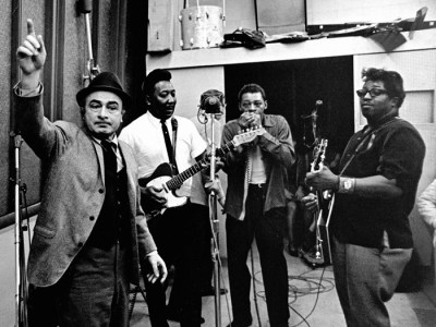 Black To The Music - Phil Chess, co-founder of Chess Records, gives the signal to kick off a recording session with Muddy Waters, Little Walter and Bo Diddley
