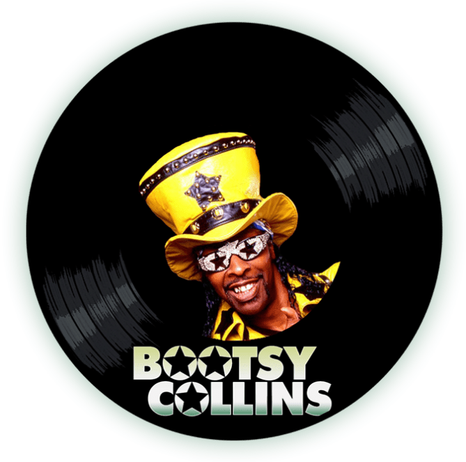 Black to the Music - Bootsy Collins - logo header