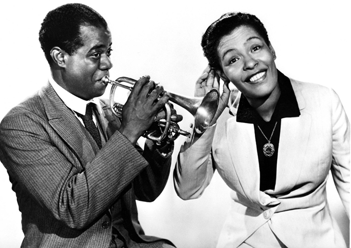 Black to the Music - Louis Armstrong - 11 Louis Armstrong with Billie Holiday in 1939
