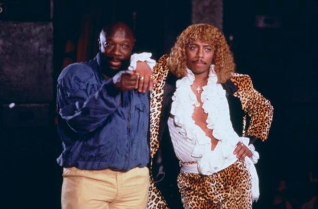 Black to the Music - Rick James - 07 - Isaac Hayes and Rick James on the set of the A-Team