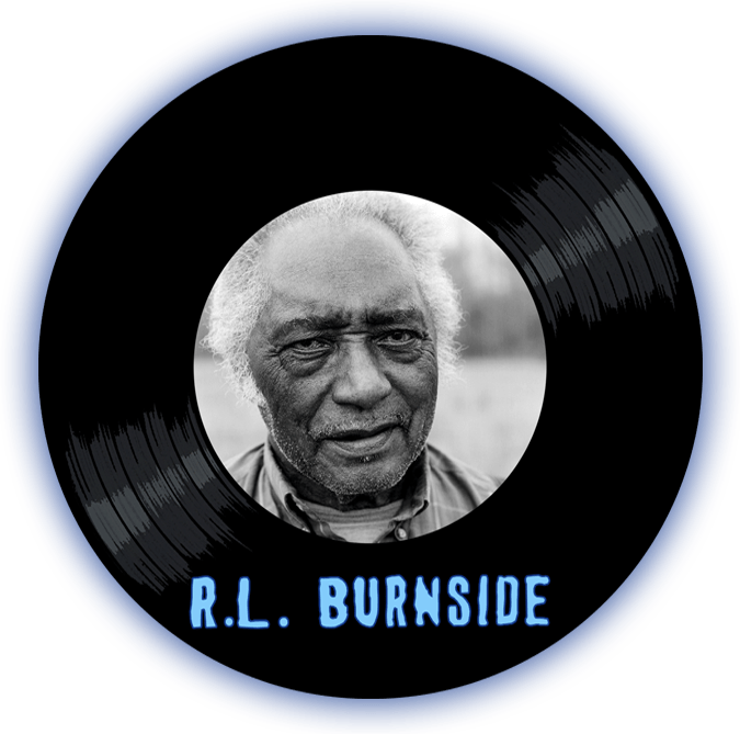 Black to the Music - R.L. Burnside - logo header