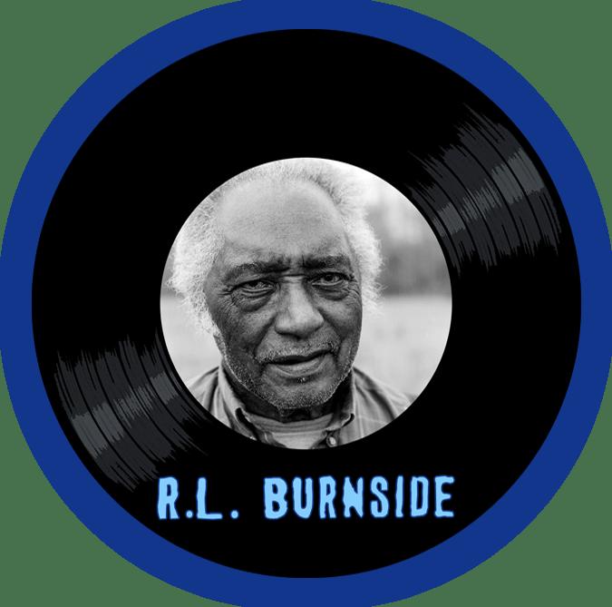 Black to the Music - R.L. Burnside - logo header