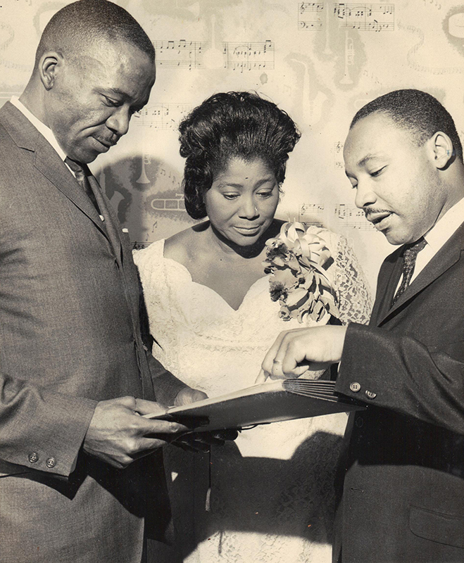 Black to the Music - Mahalia Jackson - A8 - Mahalia and MLK - Collection of the Smithsonian National Museum of African American History and Culture, Gift of Paul and Claire Blumenfeld