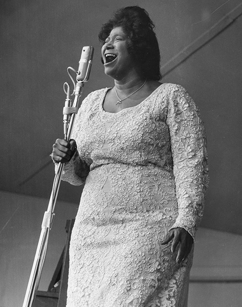 Black to the Music - Mahalia Jackson - B3 - 1963 Mahalia Jackson performs at the first Monterey Folk Festival on May 17 - (c) Monterey County Herald Archives