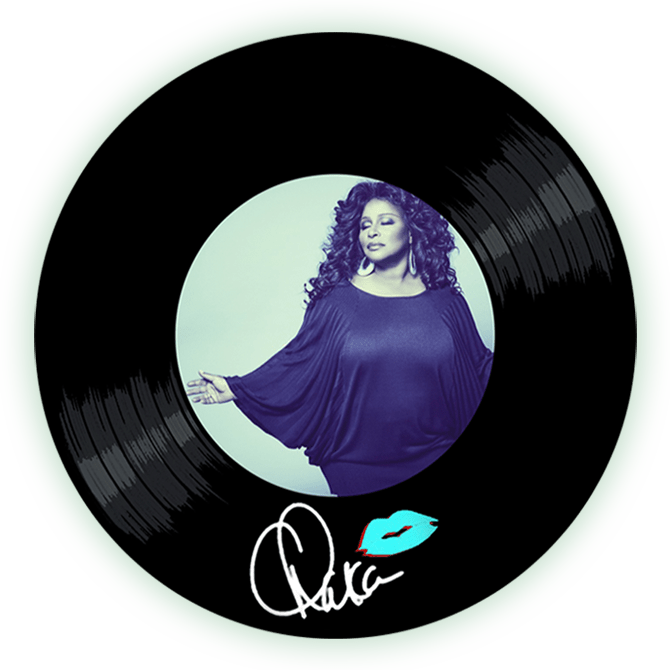 Black to the Music - Chaka Khan logo header
