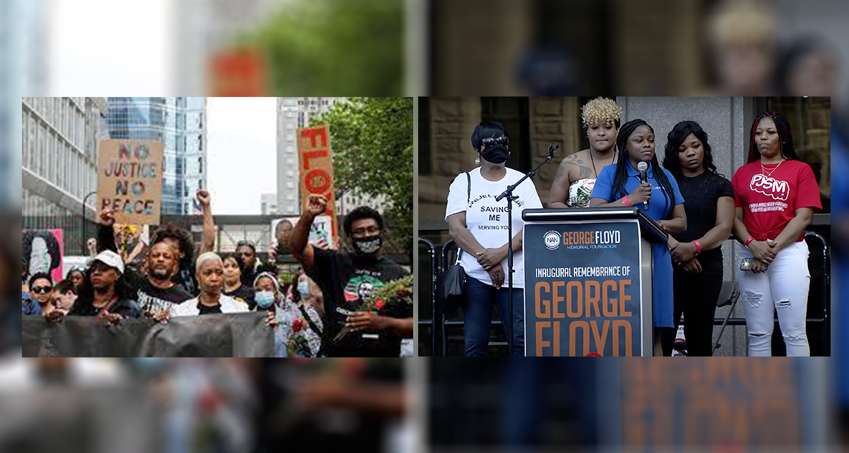 George Floyd Family March (source: yahoo.com and YouTube.com)