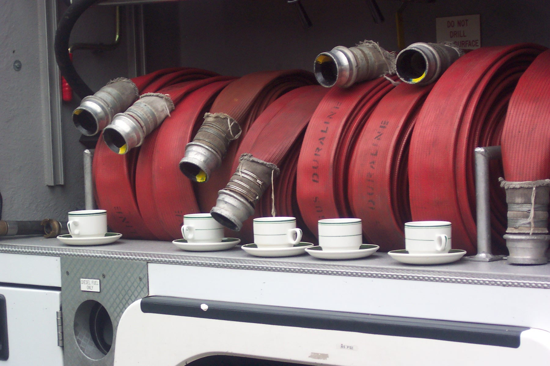 Firefighters' tea time