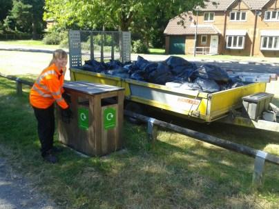Our weekly Wellesley Woodland bin run