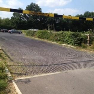 car park hedge trimmed
