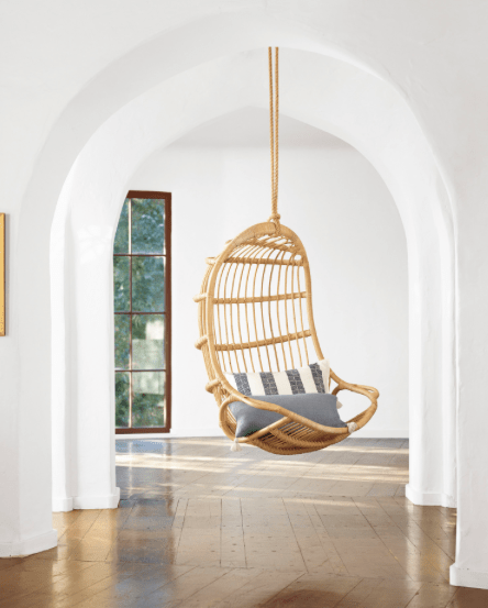 swing chair for 5 year old office without arms decor black white and kuhl my first memory of a rattan hanging is when i was about years remember being with mother visiting friend s river house