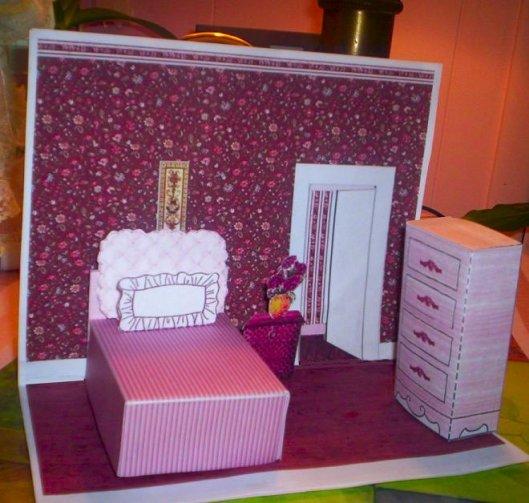 Paper Crafts Interior Model Bedroom 2 Ammeys Art Attic