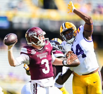 KJ Costello drops back to pass against LSU.