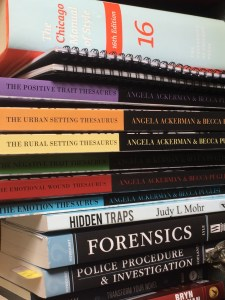 The books I have in easy reach.
