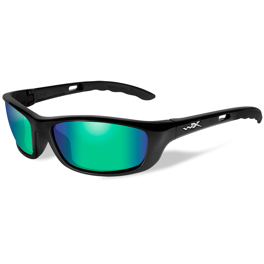 061992d4a6 Wiley X P-17 Polarized Sunglasses – Emerald Mirror Lens – Gloss Black ...