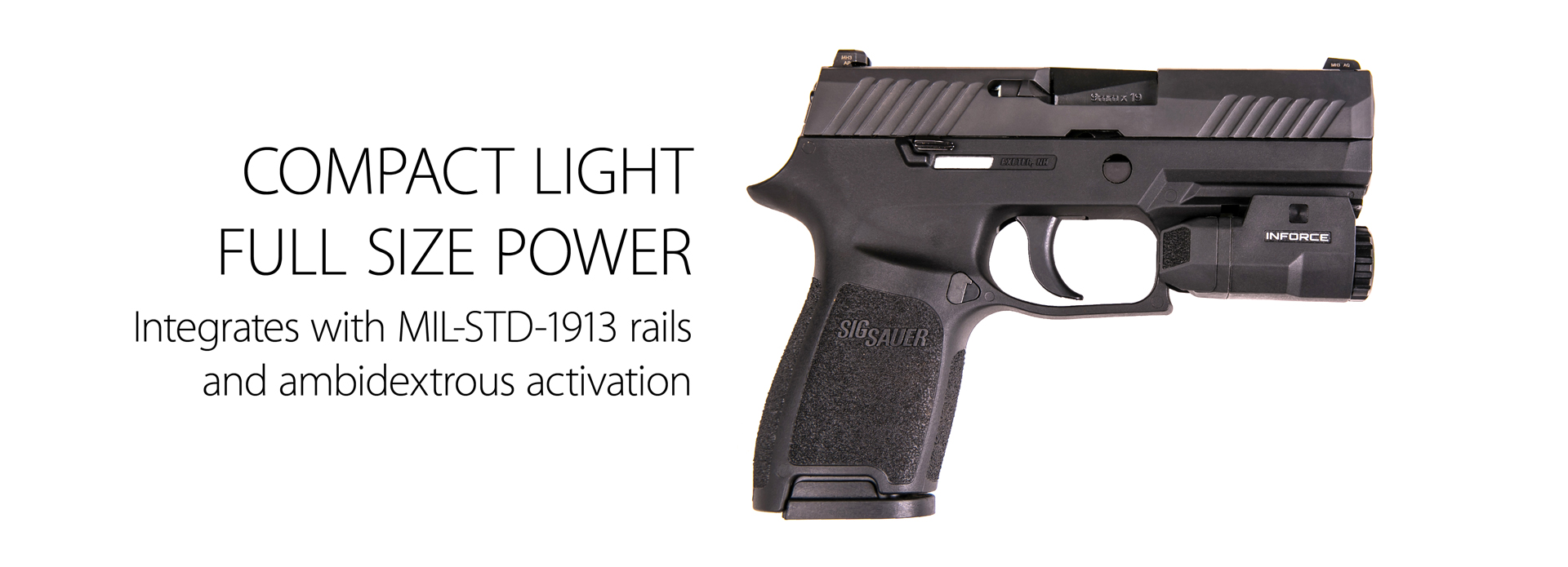 inforce aplc compact auto pistol light flat dark earth white led ac