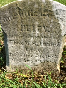 Great Aunt Helens Tombstone
