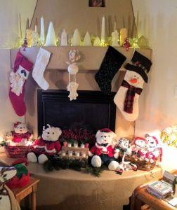 Christmas Kiva Fireplace