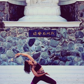 Image of Tiana Taylor-Cowan in Reverse Warrior pose