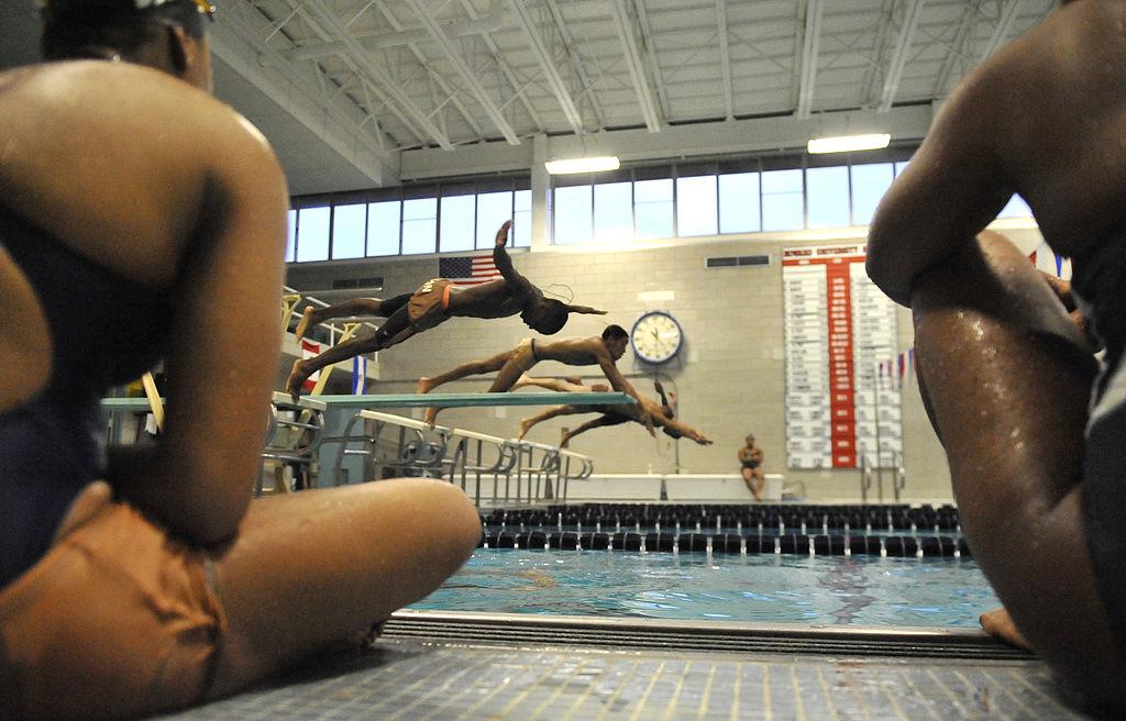 WASHINGTON, DC JANUARY 20:Members of the Howard University swim team practiced on January 20, 2011 in Washington DC.