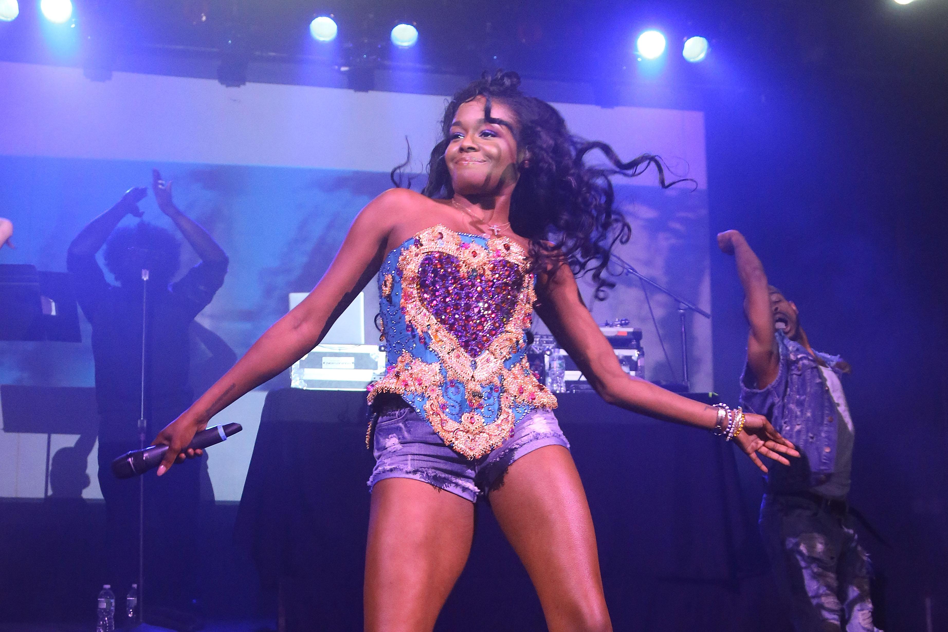 NEW YORK, NY - MAY 11:  Azealia Banks performs at Irving Plaza on May 11, 2015 in New York City.