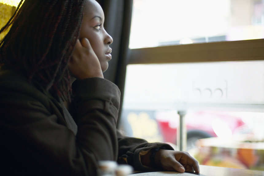 Image result for lonely black working woman