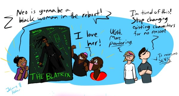 Comic: Porny fan art is okay, but marginalized redesigns are apparently not