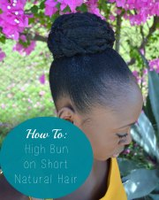 high bun short natural