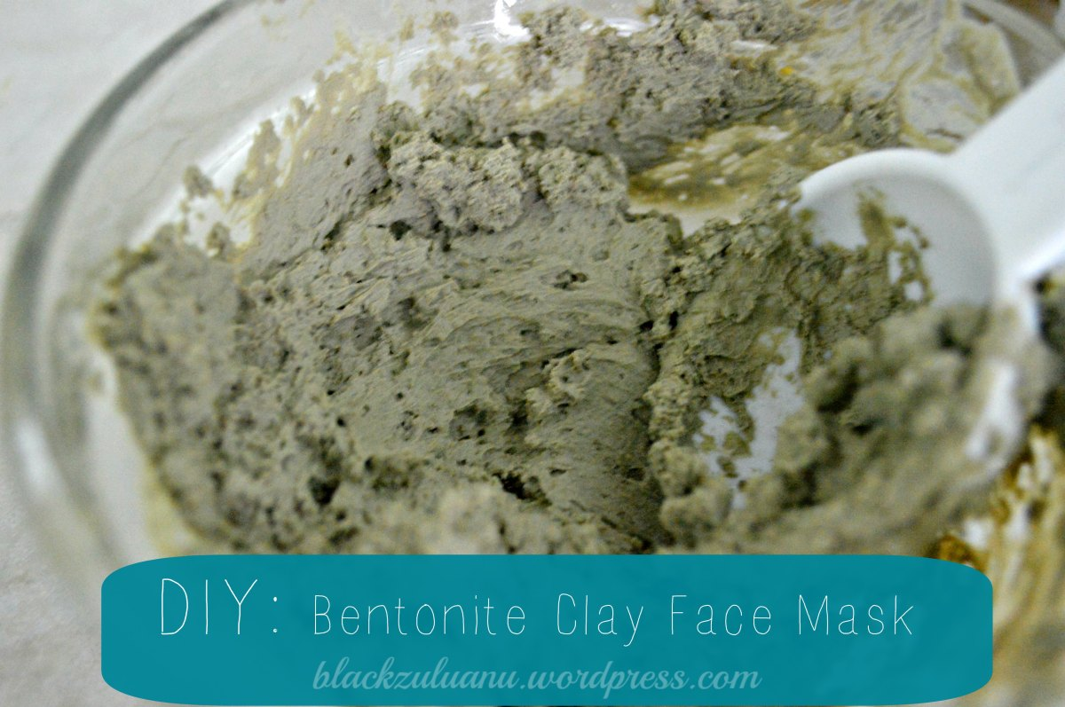 DIY Bentonite Clay Face Mask Black Zulu