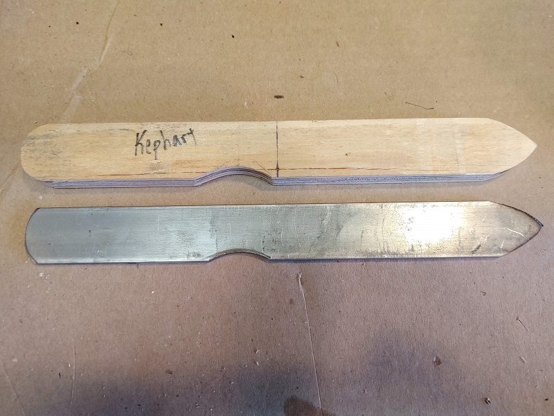 Knife 63 – Kephart EDC - Multi Part Handle Scales