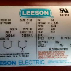Leeson Wiring Diagram Door Hardware For 1 Hp Motor Library A 2hp Electric Tools And Tool Making Bladesmith S Rh Bladesmithsforum Com