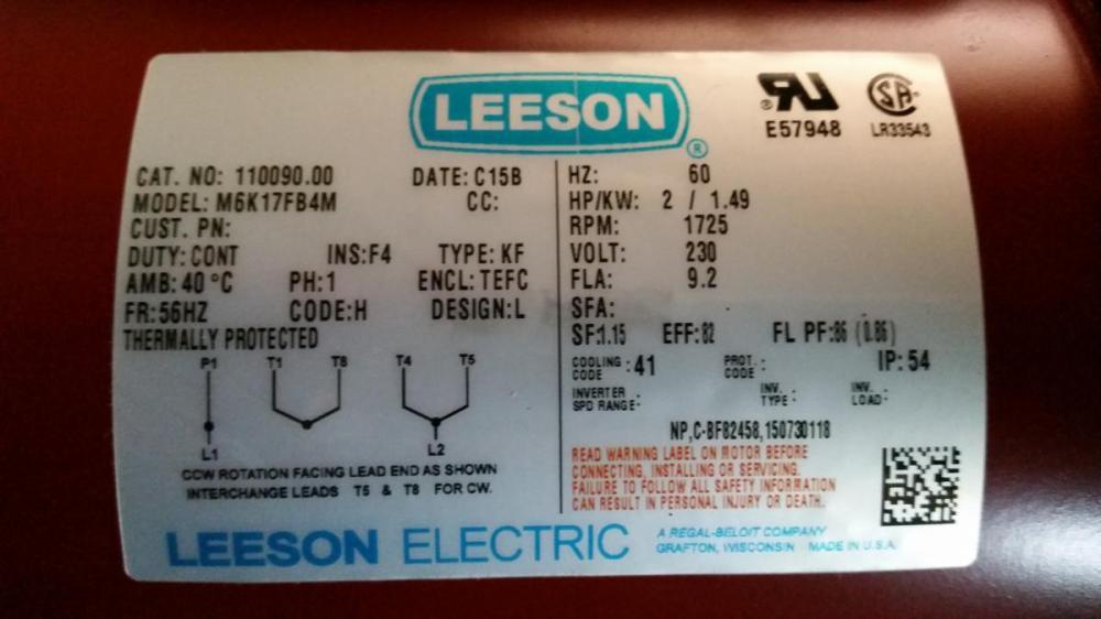 medium resolution of leeson motor wiring diagram