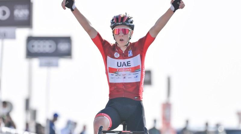 Tadej Pogačar vinner etappe 3 av UAE tour