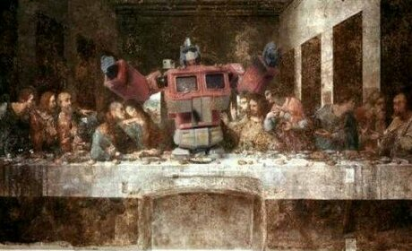Optimus Prime Reads Psalm 101 to Sam