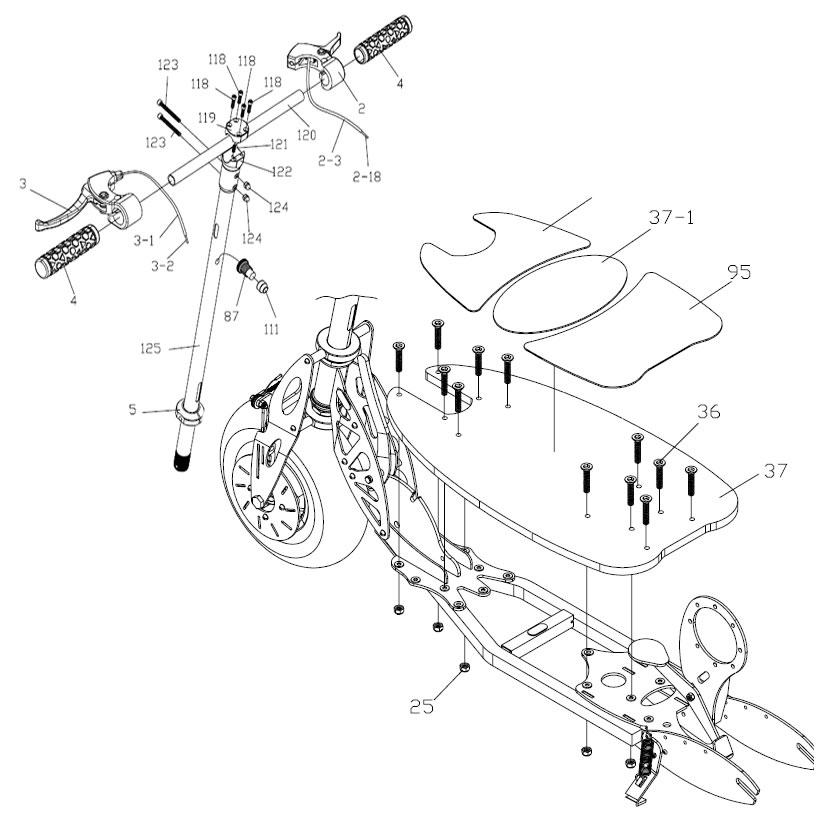 bladez xtr electric scooter wiring schematics